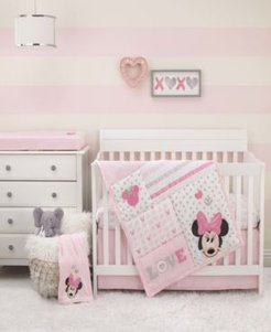 Minnie Mouse Love to Love 3-Piece Crib Bedding Set Bedding