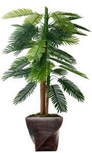 """67.5"""" Real Touch Palm Tree in Fiberstone Planter"""