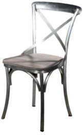Villa 2 X Back Solid Iron Wood Armless Chair
