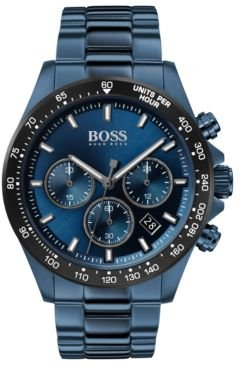 Chronograph Hero Blue Ion-Plated Stainless Steel Bracelet Watch 43mm