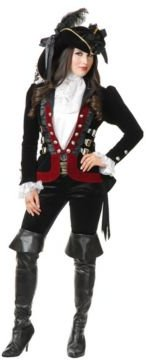 Sultry Pirate Lady Wine Jacket Adult Costume