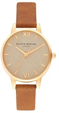 Tan Leather Strap Watch 30mm
