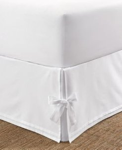 Tailored King Bedskirt with Corner Ties Bedding