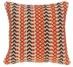 Larka Bohemian Multicolor Pillow Cover with Polyester Insert