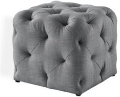 Angel Upholstered Tufted Allover Cube Ottoman