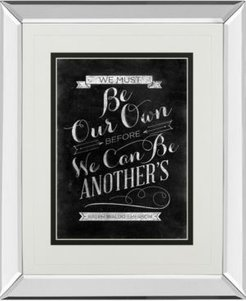 """Be Our Own by Sd Graphic Mirror Framed Print Wall Art, 34"""" x 40"""""""
