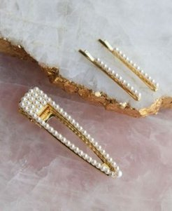 String of Pearls Bobby Pin and Hair Clip 3 Piece Set
