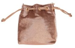 Fully Sequin Bucket Cross Body with Faux Leather Drawstring