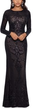 Embellished Embroidered Gown