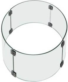 Metropolis Fire Pit Table Tempered Glass Wind Screen