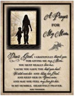 """Prayer for My Mom Timberland Wood Plaque, 11.75"""" x 15"""""""