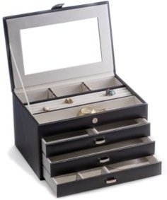 4 Level Jewelry Box with Multi Compartments