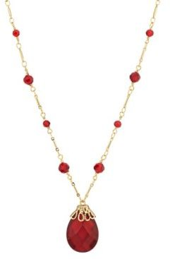 2028 14K Gold Dipped Large Pendant Necklace