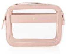 Personalized Small Vegan Leather Travel Cosmetic Case
