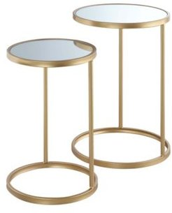 Gold Coast Mirrored Nesting End Tables