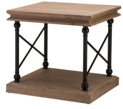 """23"""" L French Vintage-Inspired Finish Accent Table, Side Table"""