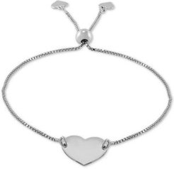 Polished Heart Bolo Bracelet in Sterling Silver, Created for Macy's