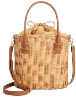 Rattan Bucket Tote, Created for Macy's