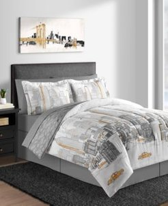 New York 6-Pc. Twin Comforter Set Bedding