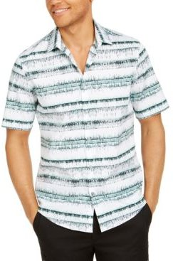 Classic-Fit Abstract Stripe Shirt, Created for Macy's