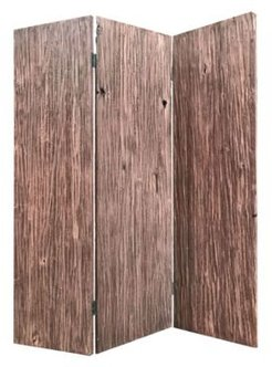 Handcrafted Rustic 3 Panel Woodland Screen