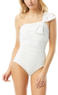 Ruched One-Shoulder One Piece Swimsuit Women's Swimsuit