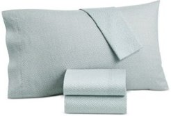Closeout! Lucky Brand Baja Stripe Cotton 230-Thread Count 3-Pc. Twin Sheet Set, Created for Macy's Bedding