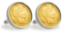 Gold-Layered Silver Barber Dime Sterling Silver Coin Cuff Links