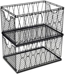 Criss Cross Collapsible Stacking Basket