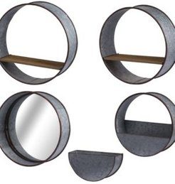 Zale Round Wall Planters, Set of 5