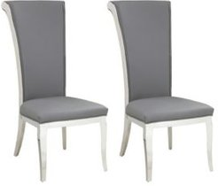 Joy Modern Tall Rolled-Back Side Chair, Set of 2