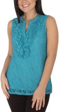 Plus Size Lace Sleeveless Top