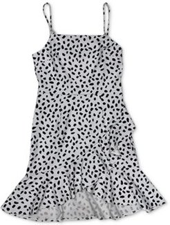 Dot-Print Ruffled Mini Dress, Created for Macy's