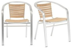Shirley Stacking Arm Chair, Set of 2