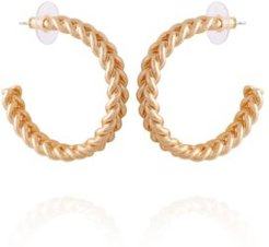 Fashionable Florals Hoop Earring