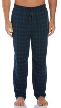 Perry Ellis Men's Houndstooth Plaid Flannel Pajama Pants