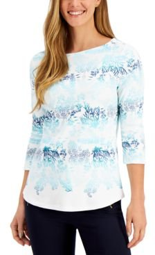 Cotton Printed Top, Created for Macy's