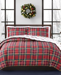 Closeout! Holiday Tartan 3-Pc. Reversible Full/Queen Comforter Set, Created for Macy's Bedding