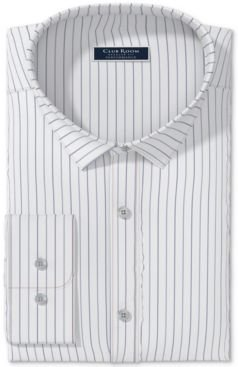 Classic/Regular-Fit Performance Stretch Wrinkle-Resistant Pinstripe Dress Shirt, Created for Macy's