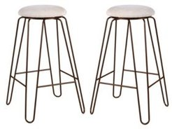 Corey Upholstered Stool, Set of 2