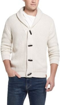 Jersey Lined Cardigan with Toggles