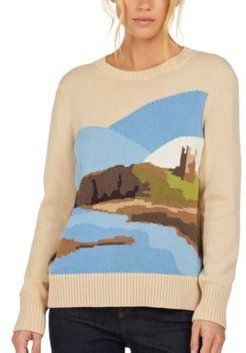 Seagrass Intarsia-Knit Sweater