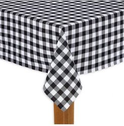 """Buffalo Check Black 100% Cotton Table Cloth for Any Table 70"""" Round"""