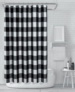 """Imperial Checkered Shower Curtain, 70"""" W x 72"""" L Bedding"""