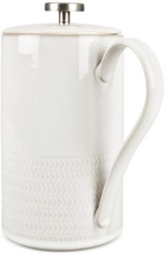 Natural Canvas Stoneware 2-Pc. Lidded French Press