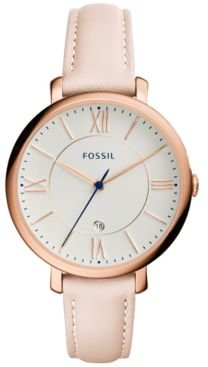 Jacqueline Blush Leather Strap Watch 36mm ES3988