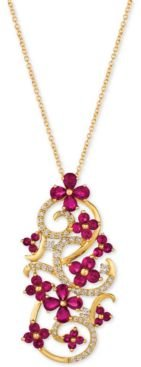 Certified Passion Ruby (2-3/4 ct. t.w.) & Diamond (1/2 ct. t.w.) Pendant Necklace in 14k Gold