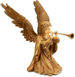 """National Tree 24"""" Angel with Horn"""