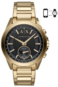 Connected Gold-Tone Stainless Steel Bracelet Hybrid Smart Watch 44mm