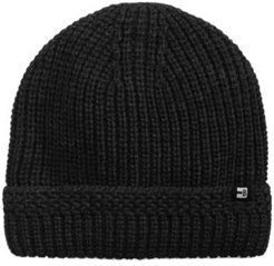 Ribbed-Cuff Sherpa Lined Beanie